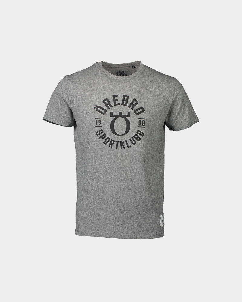 Grå t-shirt med örebro sportklubb logga