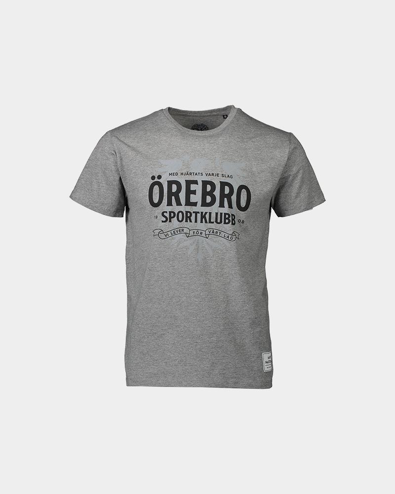 T-shirt med hjärtats varje slag - grå